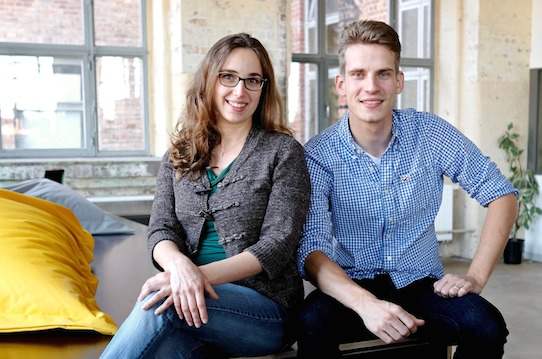 Julia Ryssel und Martin Cirillo-Schmidt sind die Gründer von Laviu. Foto: Laviu