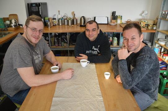 Matthias Herzog, Sammy Zimmermanns und André Heinisch (von links). Foto: Stephan Hönigschmid