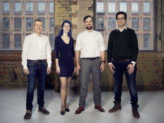 Das Gründerteam von Innovailably: Ronald Scholz, Susanne Reinhardt, Michael Benz und Pouyan Fard (v.l.n.r.). Foto: Michael Moser