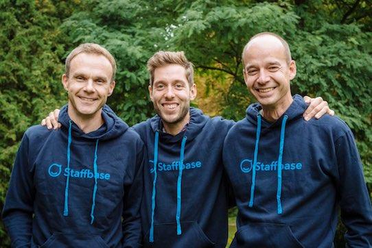 Das Staffbase Gründerteam: Frank Wolf, Dr. Martin Böhringer und Dr. Lutz Gerlach (v.l.n.r.) Foto: Henry Sowinski