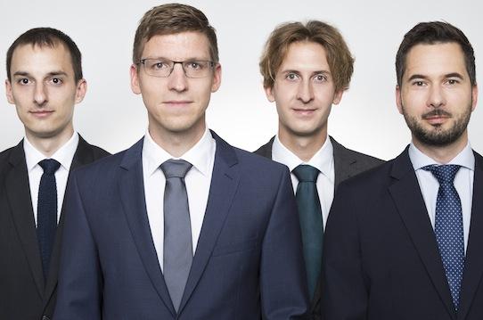 Sven Bauer, Robin Streiter, Michael Jüttner und Peter Kalinowski (v.l.n.r.) sind die Gründer von Naventik. Foto: Tim Plagemann für Naventik. Foto: Tim Plagemann für Naventik