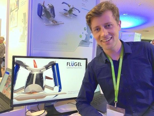 Christian Beier arbeitet mit seinen Kollegen an Flugtaxis für Deutschland. Foto: Stephan Hönigschmid