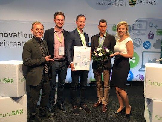 Über den zweiten Platz kann sich die Infrasolid GmbH aus Dresden freuen. Foto: Stephan Hönigschmid
