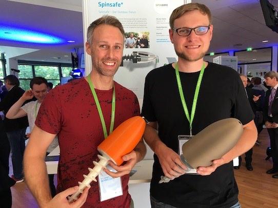 Dennis Zappi (li.) und Gero Kraus sind die Gründer des Leipziger Startups Spinsafe. Foto: Stephan Hönigschmid