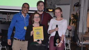 Das Team VR Nursing hat beim diesjährigen Startup Weekend in Dresden den ersten Platz belegt. Foto: Stephan Hönigschmid