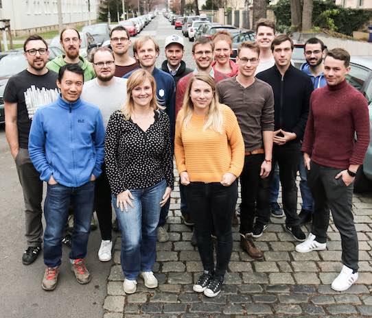 Das Team des Dresdner Startups Wandelbots. Foto: PR/Wandelbots GmbH