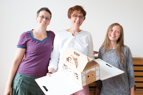 Die Pappka-Gründerinnen Antje Stumpe, Cordula Hundrieser und Martina Musek (v.l.n.r.) Foto: PR/MuseKind GmbH