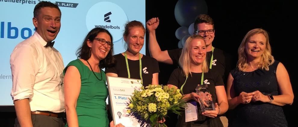 Dresdner Startup Wandelbots holt Sachsens Gründerpreis