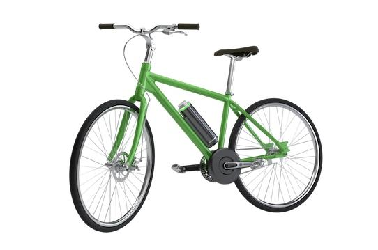 Ein grünes Fahrrad mit einem Elektroantrieb von Pendix. Foto: Pendix