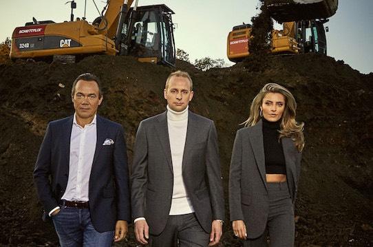 Die Schüttfix-Gesellschafter Thomas Hagedorn, Christian Hülsewig und Sophia Thomalla (von links). Foto: Schüttflix/ andra photography.