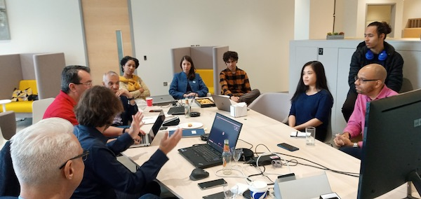 Das Team von Oxford Immune Algorithmics während einer Sitzung. Foto: PR/Oxford Immune Algorithmics