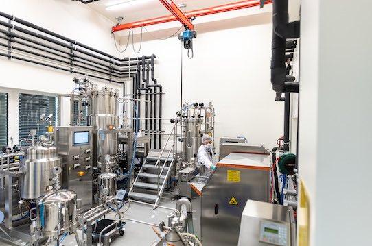 Im Inneren der Produktionsstätte von c-LEcta in Leipzig. Foto: c-Lecta/Eric-Kemnitz.com