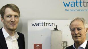 Watttron Geschäftsführer Marcus Stein (li.) und der neue Vertriebschef Ton Knipscheer. Foto: Watttron