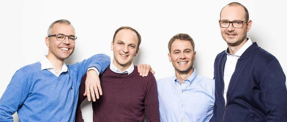 Robert Langer, Ronny Timmreck, Robert Brückner und Matthias Jahnel (v.l.n.r.) sind die Gründer von Senorics. Foto: Ellen-Türke-Fotografie für Senorics