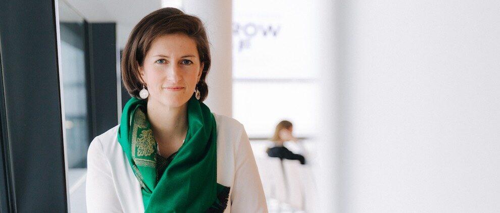 """Isabell Claus ist Mitgründerin des Startups thinkers.ai. Zuvor war sie schon mit der Firma """"Radar Cyber Security"""" erfolgreich. Foto: Marcella Ruiz für thinkers.ai"""