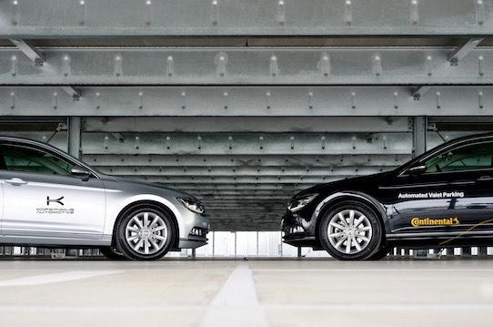 In Zukunft werden Autos in Parkhäusern autonom bewegt. Kopernikus und Continental wollen zusammen eine sichere, komfortable und erschwingliche Lösung entwickeln. Foto: Continental AG