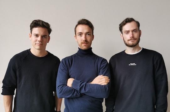 """Christian Fenner, Mathias Tholey und Thomas Stoffels (v.l.n.r.) sind die Gründer von """"the nu company"""". Foto: the nu company"""
