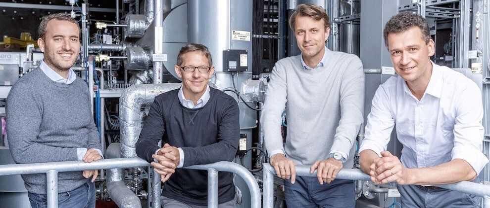 Stephan Garabet, Bernhard Zwinz, Nils Aldag und Christian von Olshausen (v.l.n.r.) bilden die Geschäftsführung von Sunfire. Foto: PR/Sunfire GmbH